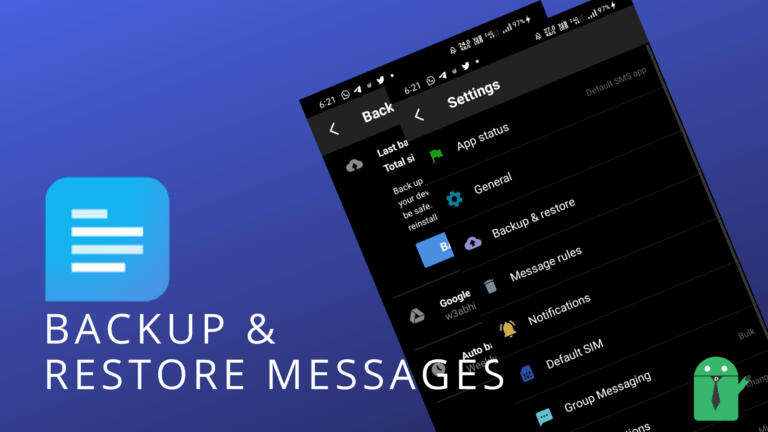 How to backup SMS Organizer messages?