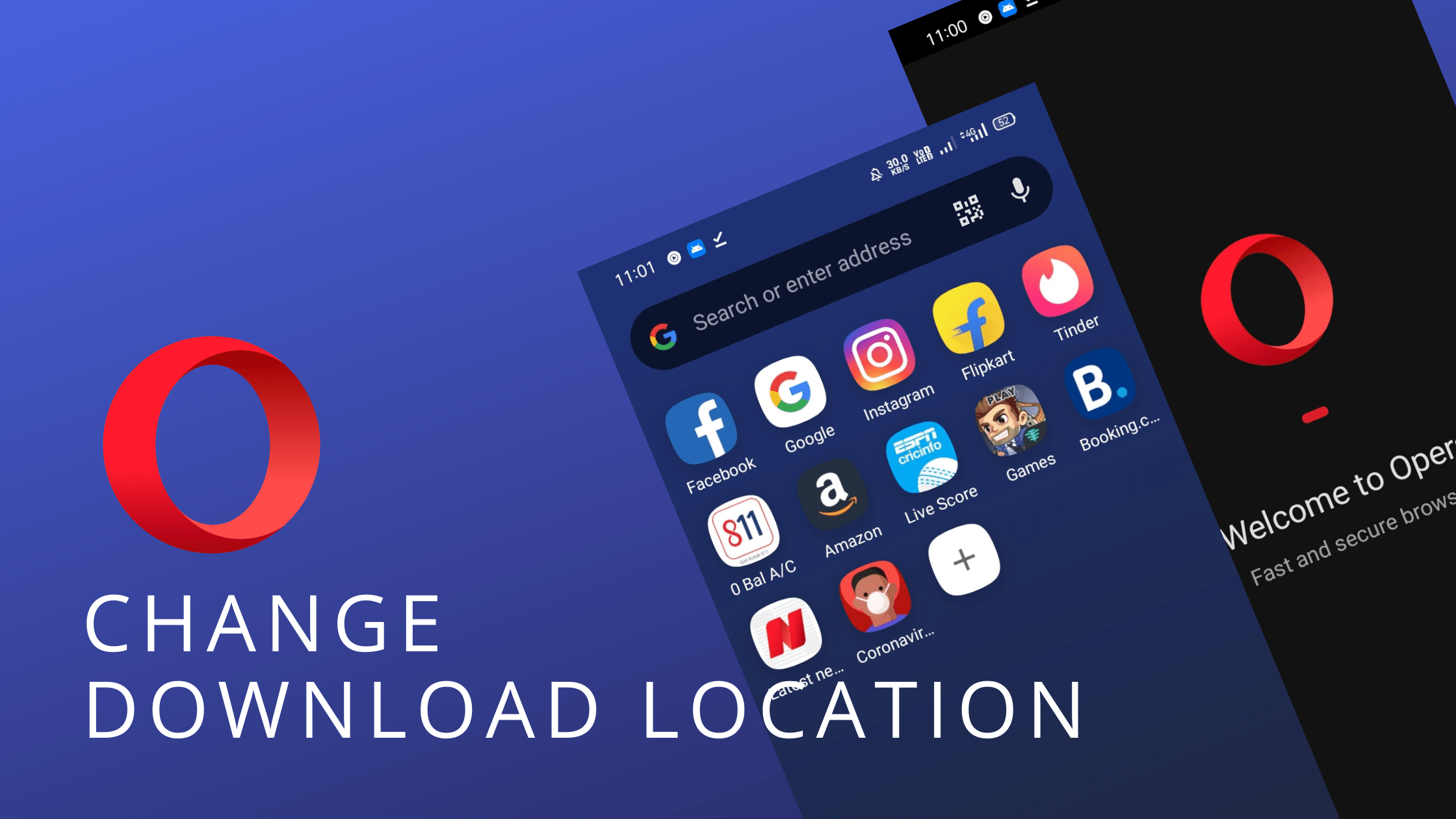 Change Download Location in Opera for Android
