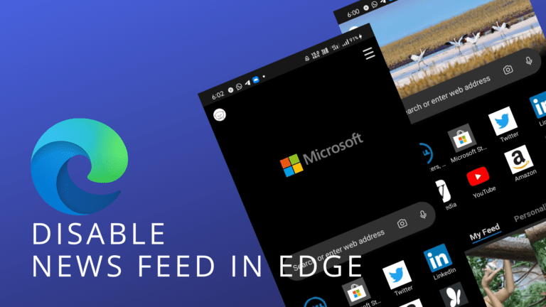 How to Disable News Feed in Edge for Android