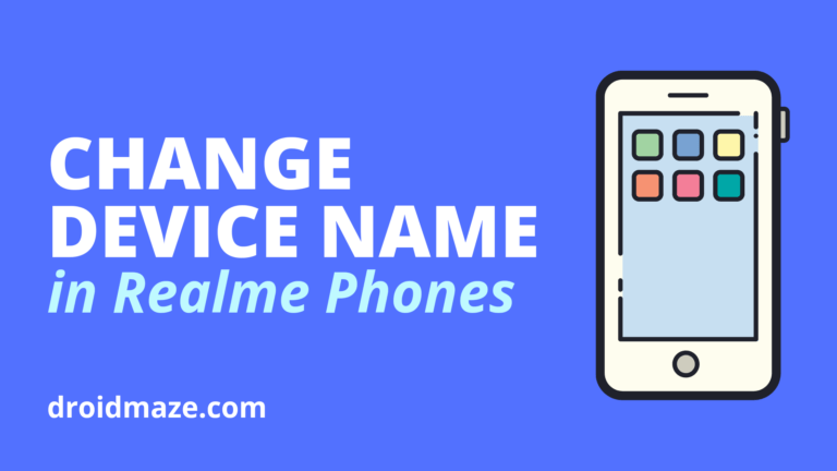 How to change Device Name in Realme Phones