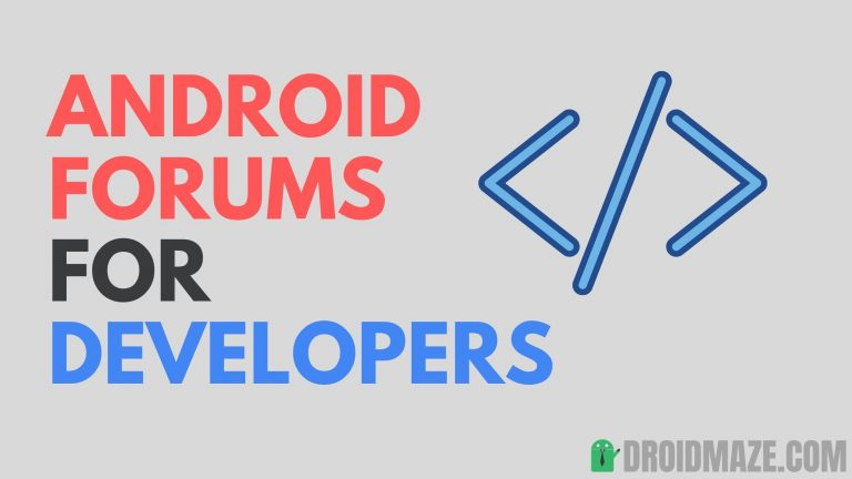 7 Best Android Forums for Developers