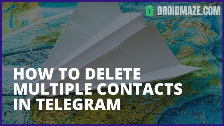 How to Delete Multiple Contacts in Telegram?