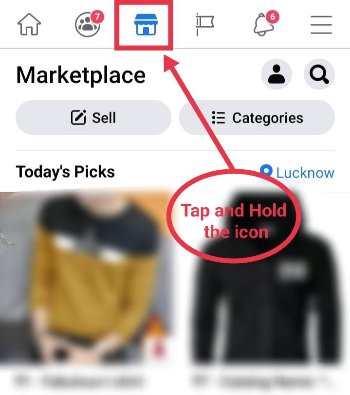 Remove Marketplace from FACEBOOK