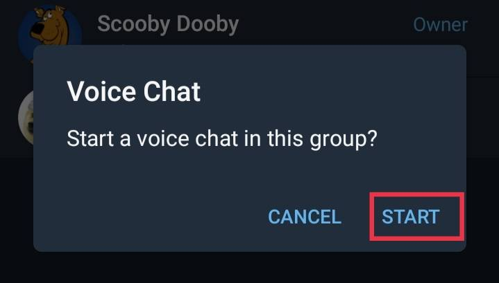 use Voice Chats in Telegram
