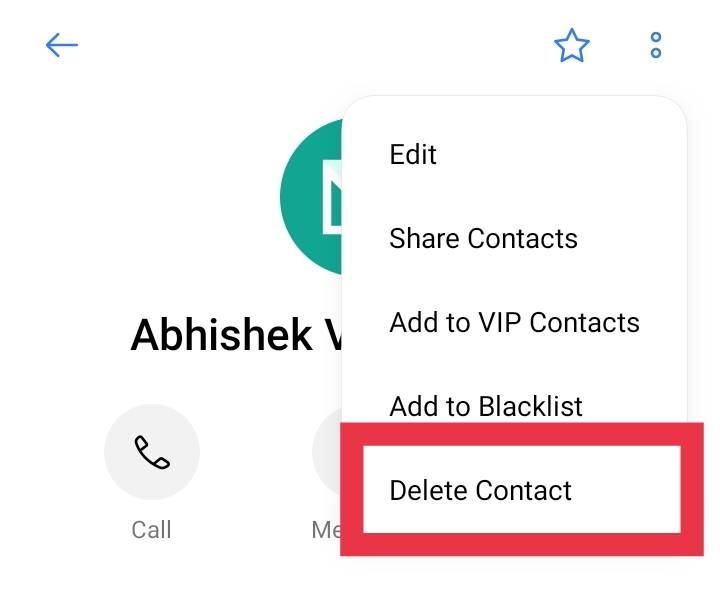Remove Contacts from Signal App