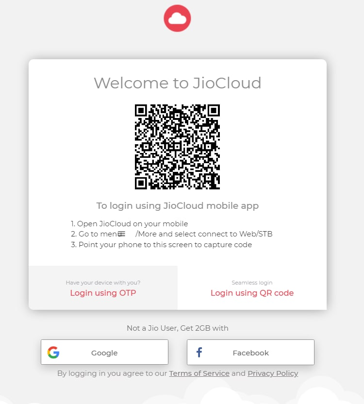 How to use Jio Cloud on PC/Web?