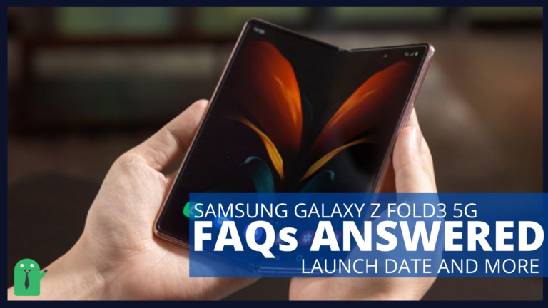 Samsung Galaxy Z Fold3 5G: FAQ and Specifications