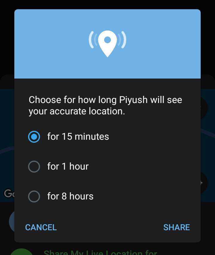 How to Share Live Location in Telegram