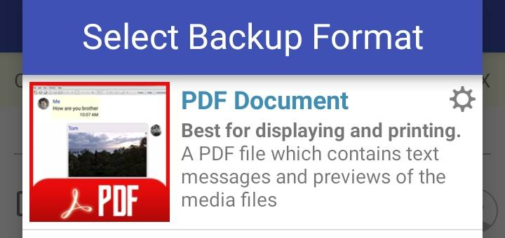 Save/Export Messages to PDF on Android