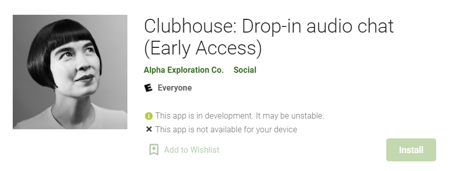 create Clubhouse account on Android