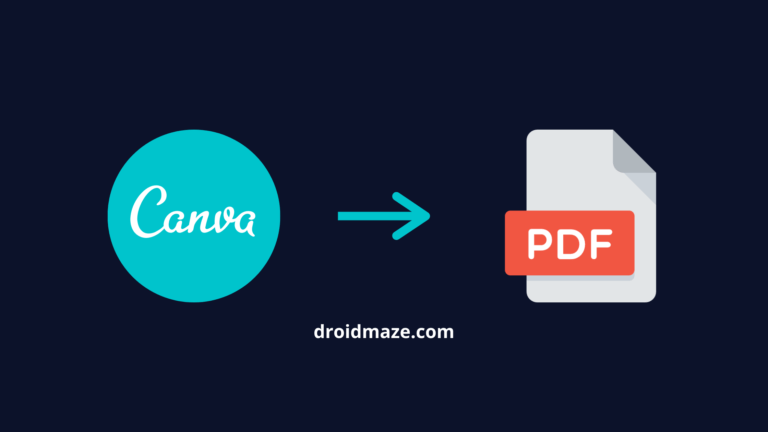 How to Save Canva as PDF on Android