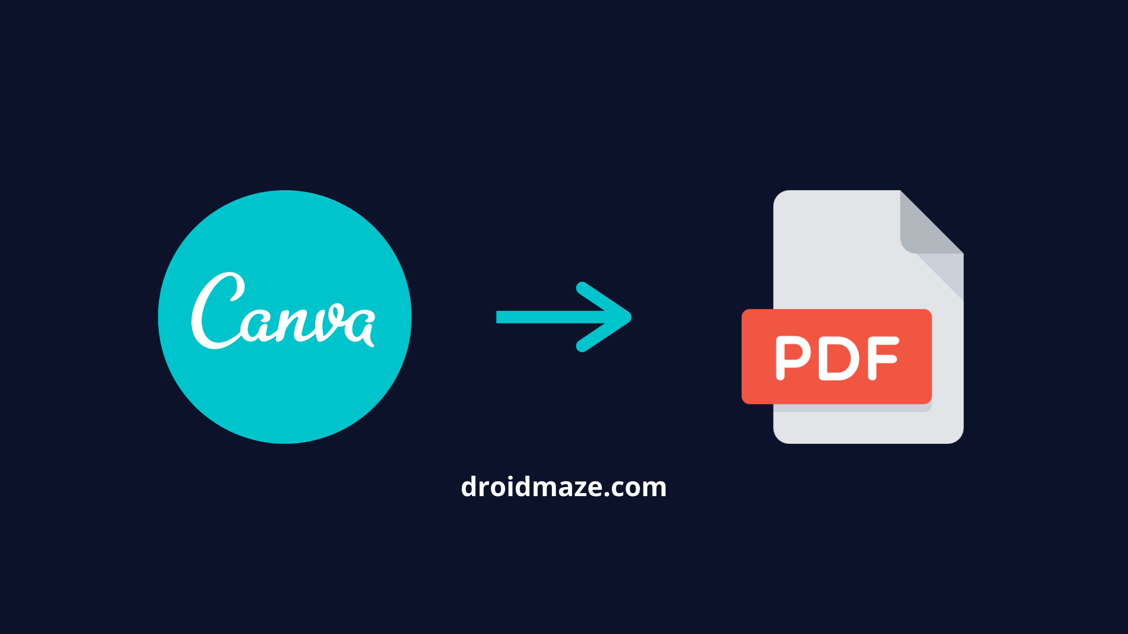 Save Canva as PDF on Android